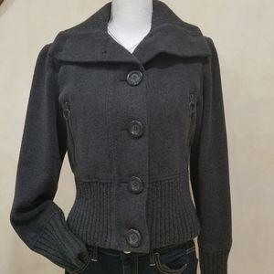 Express sz.S, dk.gray pea coat/bomber jacket
